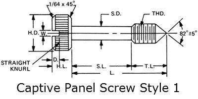 captive panel screw style 1