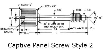 captive panel screw style 2