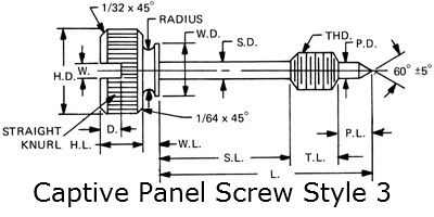 captive panel screw style 3