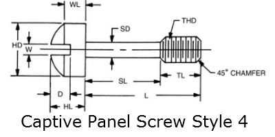 captive panel screw style 4