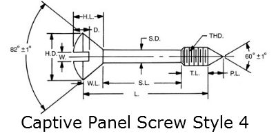 captive panel screw style 5