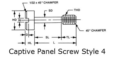 captive panel screw style 6