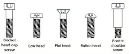 socket shoulder screw heads
